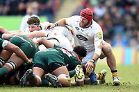 James Haskell of Wasps looks on at a scrum. Aviva Premiership match, between Leicester Tigers and Wasps on March 25, 2018 at Welford Road in Leicester, England. Photo by: Patrick Khachfe / JMP