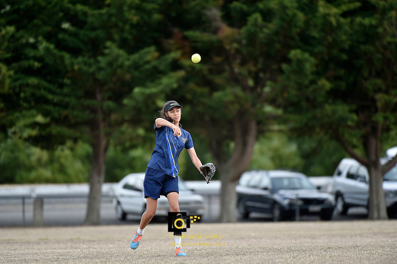 Action from the Softball - National Qualifying Tournament at Fraser Park, Lower Hutt, New Zealand on Wednesday 25 February 2015. <br /> Photo by Masanori Udagawa. <br /> www.photowellington.photoshelter.com.