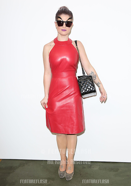 Kelly Osbourne at the House of Holland catwalk show as part of London Fashion Week SS13, London. 15/09/2012 Picture by: Henry Harris / Featureflash
