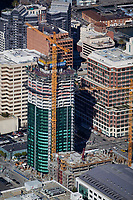 aerial photograph of Infinity condomium high rise tower construction San Francisco California