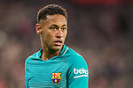 Neymar da Silva Santos Junior of FC Barcelona looks on during their Copa del Rey Round of 16 first leg match between Athletic Club and FC Barcelona at San Mames Stadium on 05 January 2017 in Bilbao, Spain. Photo by Victor Fraile / Power Sport Images