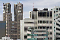 The Tokyo Metropolitan Government Towers in Shinjuku, Tokyo, Japan. Friday January 19th 2018