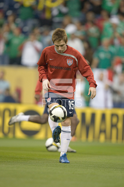 Bobby Convey warms up. USA and Mexico tied, 2-2, in an international friendly at Reliant Stadium, Houston, Texas on February 6, 2008.
