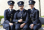 Attending the Garda graduations in Templemore on Thursday were Rachel Killeen, Newmarket on Fergus, Clare, Aoife McEvoy, Navan, Meath and Claire Healy, Rochestown, Cork.<br />  Photograph Liam Burke/Press 22