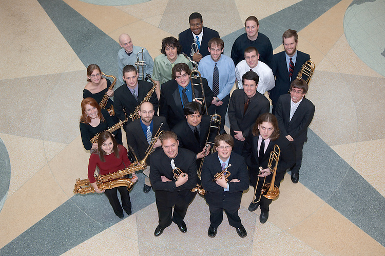 18071Jazz Band Ensemble w/Matt James Group Portrait 2/20/07