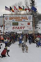 Rudi Niggemeier Willow restart Iditarod 2008.