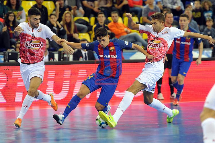 League LNFS 2016/2017 - Game 8.<br /> FC Barcelona Lassa vs ElPozo Murcia: 2-3.<br /> Elias, Roger &amp; Pito.