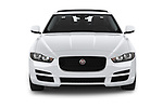 Car photography straight front view of a 2019 Jaguar XE  Base 4 Door Sedan