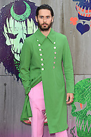 "Jared Leto<br /> arrives for the ""Suicide Squad"" premiere at the Odeon Leicester Square, London.<br /> <br /> <br /> ©Ash Knotek  D3142  03/08/2016"