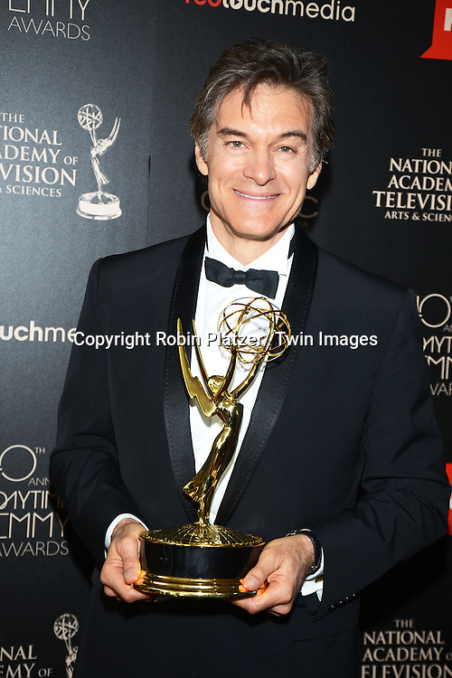 Dr Oz Show winner attends The 40th Annual Daytime Emmy Awards on<br />  June 16, 2013 at the Beverly Hilton Hotel in Beverly Hills, California.