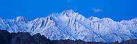 Lone Pine peak in pre-dawn light, Sierra Nevada mountains, California