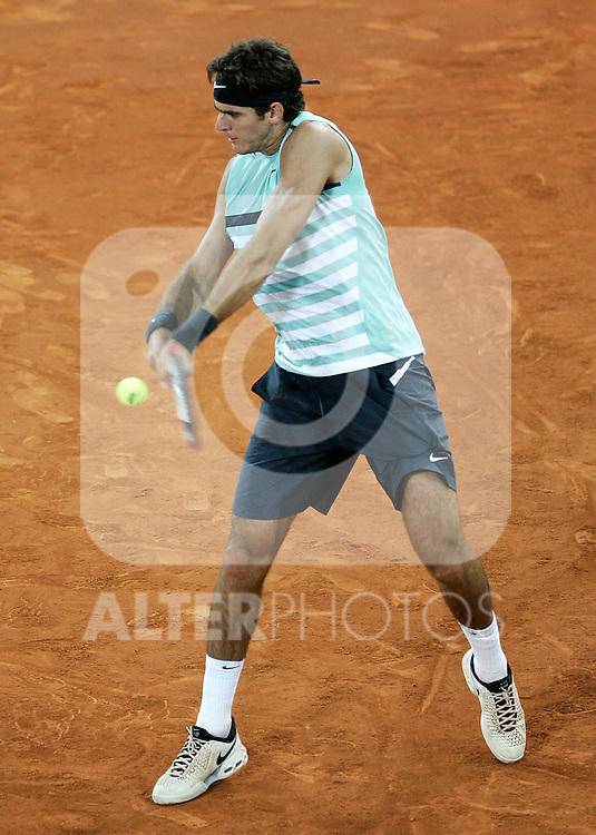 Argentina's Juan Martin del Potro during his Madrid Open quarter final match. May 15, 2009. (ALTERPHOTOS/Alvaro Hernandez)