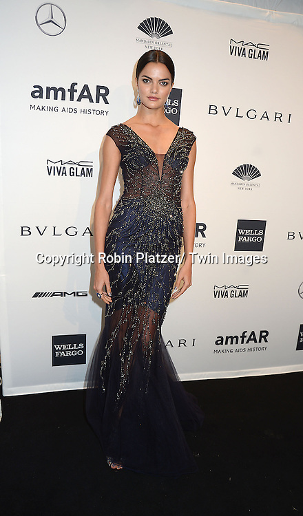 Barbara Fialho attends the amfAR New York Gala on February 5, 2014 at Cipriani Wall Street in New York City.