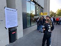 Protest der Fans der Eintracht gegen die Personalie von Ex-Eintracht Spieler Andreas Möller - 19.09.2019:  Eintracht Frankfurt vs. Arsenal London, UEFA Europa League, Gruppenphase, Commerzbank Arena<br /> DISCLAIMER: DFL regulations prohibit any use of photographs as image sequences and/or quasi-video.