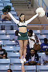 23 March 2014: MSU cheerleader. The Michigan State University Spartans played the Hampton University Lady Pirates in an NCAA Division I Women's Basketball Tournament First Round game at Cameron Indoor Stadium in Durham, North Carolina. Michigan State won the game 91-61.