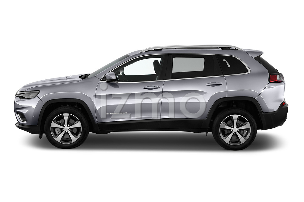 Car Driver side profile view of a 2018 JEEP Cherokee Limited 5 Door SUV Side View