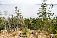 Sweden, Halleberg table mountain. Vänern lake.
