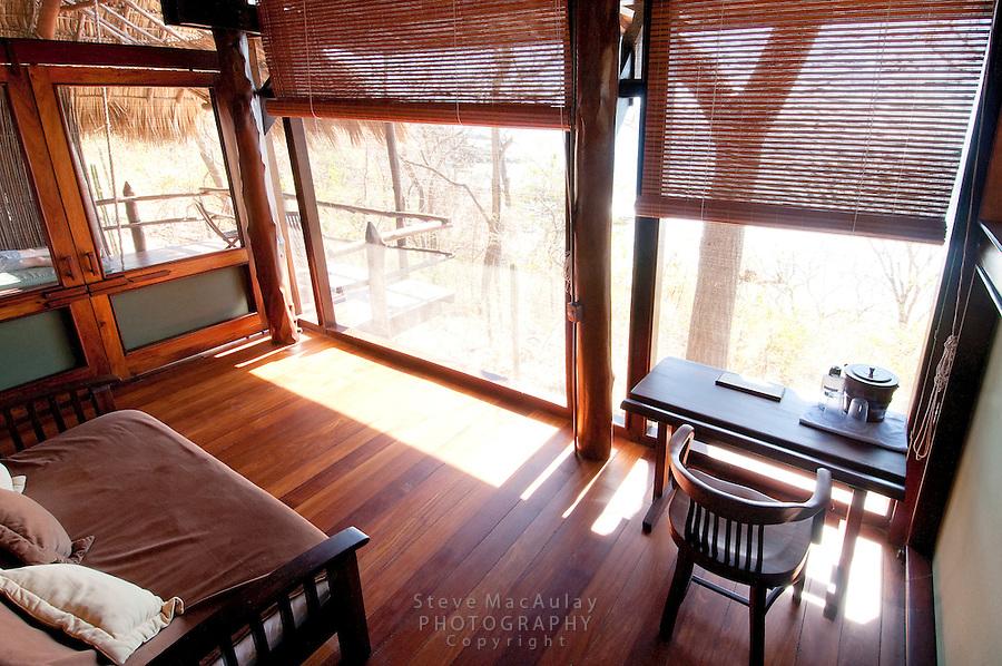 Interior view of bungalow at Morgan's Rock Hacienda and Eco Lodge, Nicaragua