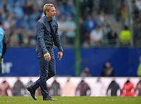 FUSSBALL   1. BUNDESLIGA   SAISON 2012/2013    32. SPIELTAG Hamburger SV - VfL Wolfsburg          05.05.2013 Trainer Thorsten Fink (Hamburger SV)  ist nach dem Abpfiff enttaeuscht