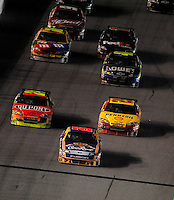 Feb 07, 2009; Daytona Beach, FL, USA; NASCAR Sprint Cup Series driver Jamie McMurray leads the field during the Bud Shootout at Daytona International Speedway. Mandatory Credit: Mark J. Rebilas-