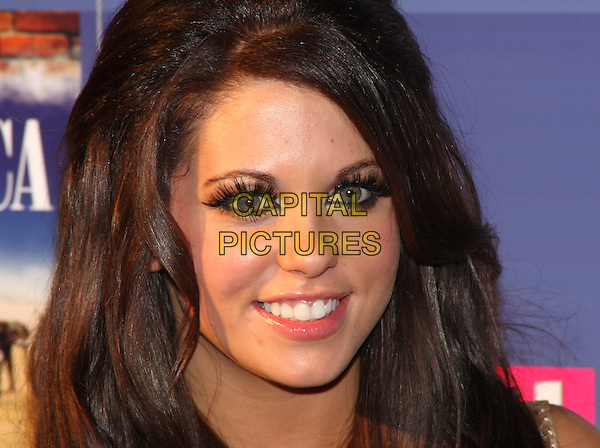 "BIANCA GASCOIGNE.Coronation Street ""Out Of Africa"" DVD Premiere at Odeon Cinema, The Printworks, Manchester, England..November 4th 2008.headshot portrait fake false eyelashes  .CAP/JIL.©Jill Mayhew/Capital Pictures"