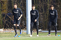 David Abraham (Eintracht Frankfurt), Lucas Torro (Eintracht Frankfurt), Goncalo Paciencia (Eintracht Frankfurt) - 20.02.2019: Eintracht Frankfurt Training, UEFA Europa League, Commerzbank Arena, DISCLAIMER: DFL regulations prohibit any use of photographs as image sequences and/or quasi-video.