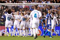 Real Madrid's players celebrate goal during La Liga match. August 20,2017.  *** Local Caption *** © pixathlon +++ tel. +49 - (040) - 22 63 02 60 - mail: info@pixathlon.de