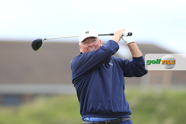Gene Elliott (USA) on the 5th tee during Round 1 of the The Amateur Championship 2019 at The Island Golf Club, Co. Dublin on Monday 17th June 2019.<br /> Picture:  Thos Caffrey / Golffile<br /> <br /> All photo usage must carry mandatory copyright credit (© Golffile | Thos Caffrey)