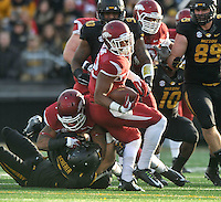 NWA Media/Michael Woods --11/28/2014-- w @NWAMICHAELW...University of Arkansas running back Jonathan Williams runs the ball up the middle for a gain during the 3rd quarter of Friday afternoons game against Missouri at Faurot Field in Columbia Missouri.