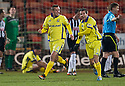 KILMARNOCK'S JAMES FOWLER CELEBRATES AFTER HE SCORES KILLIE'S FIRST