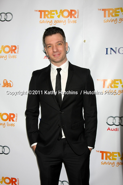 "LOS ANGELES - DEC 4:  J.C. Chasez arrives at ""The Trevor Project's 2011 Trevor Live!"" at Hollywood Palladium on December 4, 2011 in Los Angeles, CA"