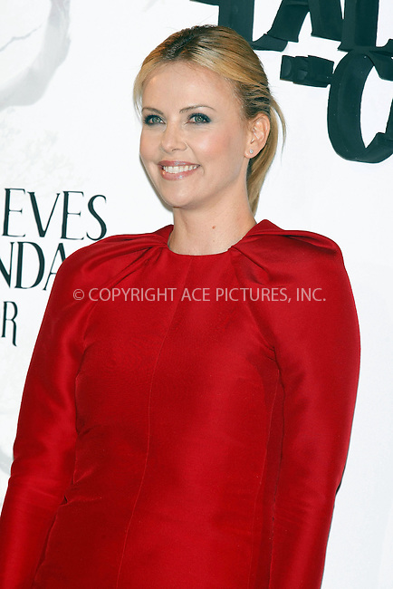 WWW.ACEPIXS.COM . . . . .  ..... . . . . US SALES ONLY . . . . .....May 17 2012, Madrid....Charlize Theron at a photocall for 'Snow White and the Huntsman' on May 17 2012 in Madrid....Please byline: FAMOUS-ACE PICTURES... . . . .  ....Ace Pictures, Inc:  ..Tel: (212) 243-8787..e-mail: info@acepixs.com..web: http://www.acepixs.com
