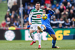 Anaitz Arbilla of SD Eibar (L) fights for the ball with Jorge Molina of Getafe CF (R) during the La Liga 2017-18 match between Getafe CF and SD Eibar at Coliseum Alfonso Perez Stadium on 09 December 2017 in Getafe, Spain. Photo by Diego Souto / Power Sport Images