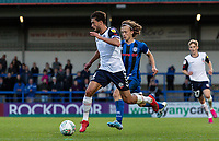 Bolton Wanderers' Jason Lowe (right) breaks away from Rochdale's Luke Matheson <br /> <br /> Photographer Andrew Kearns/CameraSport<br /> <br /> The Carabao Cup First Round - Rochdale v Bolton Wanderers - Tuesday 13th August 2019 - Spotland Stadium - Rochdale<br />  <br /> World Copyright © 2019 CameraSport. All rights reserved. 43 Linden Ave. Countesthorpe. Leicester. England. LE8 5PG - Tel: +44 (0) 116 277 4147 - admin@camerasport.com - www.camerasport.com