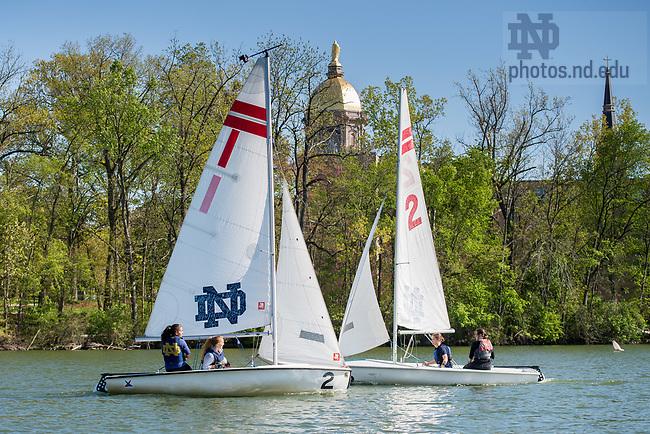 May 8, 2017; Sailing on St. Joseph Lake (Photo by Matt Cashore/University of Notre Dame)