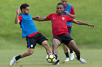 Nashville, TN - July 3, 2017: Cristian Roldan and Juan Agudelo during Training @ Lipscomb University prior to their 2017 Gold Cup.
