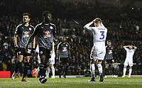 Leeds United's Barry Douglas rues a missed early effort from close range<br /> <br /> Photographer Rich Linley/CameraSport<br /> <br /> The EFL Sky Bet Championship - Leeds United v Reading - Tuesday 27th November 2018 - Elland Road - Leeds<br /> <br /> World Copyright &copy; 2018 CameraSport. All rights reserved. 43 Linden Ave. Countesthorpe. Leicester. England. LE8 5PG - Tel: +44 (0) 116 277 4147 - admin@camerasport.com - www.camerasport.com