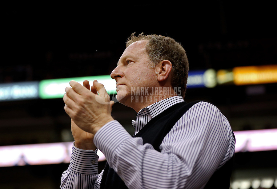 Jan. 24, 2013; Phoenix, AZ, USA: Phoenix Suns owner Robert Sarver in the second half against the Los Angeles Clippers at the US Airways Center. The Suns defeated the Clippers 93-88. Mandatory Credit: Mark J. Rebilas-USA TODAY Sports