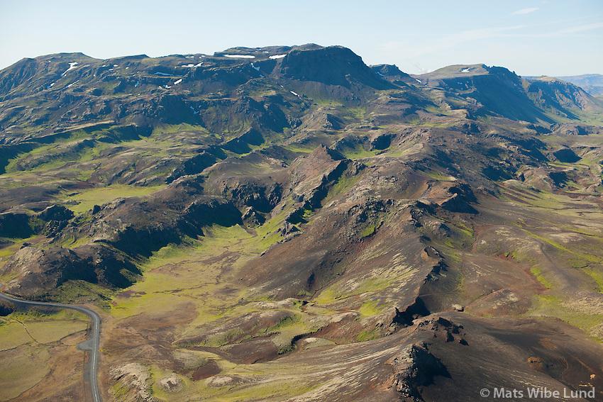 Dyradalur og Hengill séð til suðurs, Grímsnes og Grafningshreppur /  Dyradalur valley and mount Hengill viewing south, Grimsnes- and Grafningshreppur.