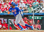 28 February 2019: New York Mets outfielder Rajai Davis at bat during a Spring Training game against the St. Louis Cardinals at Roger Dean Stadium in Jupiter, Florida. The Mets defeated the Cardinals 3-2 in Grapefruit League play. Mandatory Credit: Ed Wolfstein Photo *** RAW (NEF) Image File Available ***