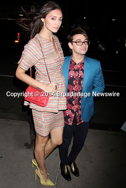 Pictured: Anna Schilling, Christian Siriano <br /> Mandatory Credit &copy; DDNY/Broadimage<br /> Marie Claire &amp; The Cinema Society Host A Screening Of Summit Entertainment's &quot;Divergent&quot; - Outside Arrivals<br /> <br /> 3/20/14, New York, New York, United States of America<br /> <br /> Broadimage Newswire<br /> Los Angeles 1+  (310) 301-1027<br /> New York      1+  (646) 827-9134<br /> sales@broadimage.com<br /> http://www.broadimage.com
