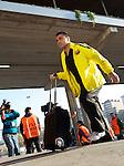 Xavi Hernandez arrives before the Champions League quarter final first leg game between Barcelona and Shaktar Donetsk at the Nou Camp, Barcelona, Spain, 5th April 2011