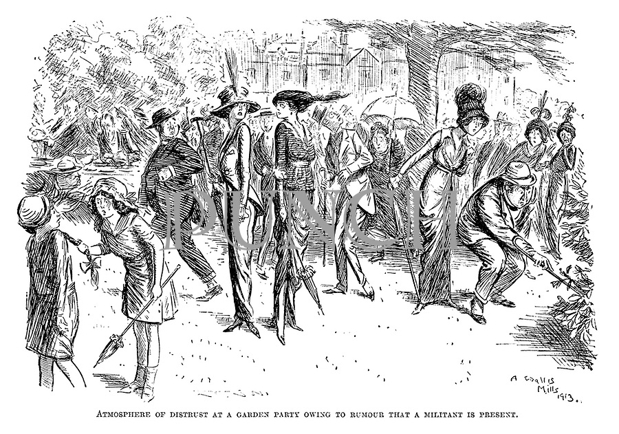 Atmosphere of distrust at a garden party owing to rumour that a militant is present.