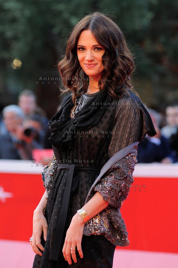 Roma, 19 Ottobre, 2009. L'attrice Asia Argento al suo arrivo al festival del cinema di Roma<br /> Italian actress Asia Argento