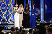Sandra Oh accepts the Golden Globe Award for BEST PERFORMANCE BY AN ACTRESS IN A TELEVISION SERIES &ndash; DRAMA for her role in &quot;Killing Eve&quot; at the 76th Annual Golden Globe Awards at the Beverly Hilton in Beverly Hills, CA on Sunday, January 6, 2019.<br /> *Editorial Use Only*<br /> CAP/PLF/HFPA<br /> Image supplied by Capital Pictures