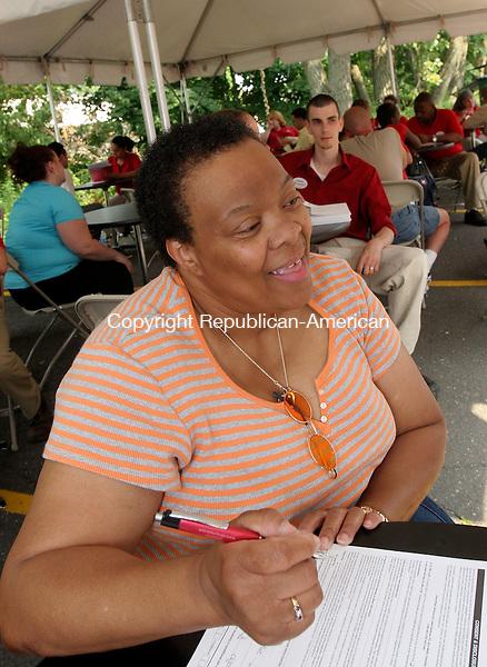 WATERBURY, CT-10August 2006-081006TK11- Sharon Burgison of Waterbury applying for a position in the Target Pharmacy department. Tom Kabelka Republican-American (Sharon Burgison)