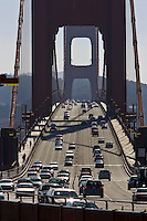Traffic on the Golden Gate Bridge, San Francisco, California, United States of America