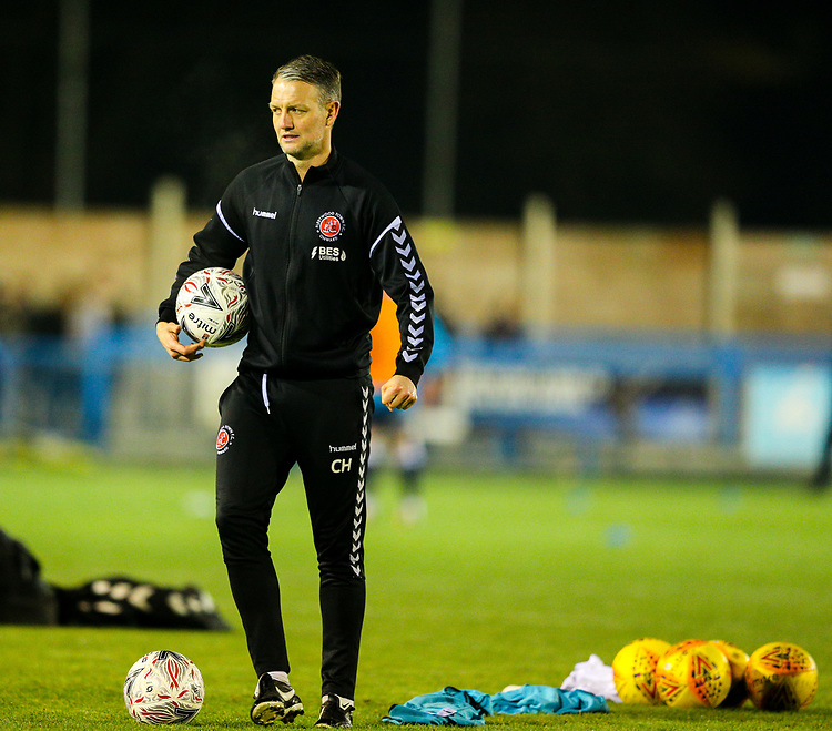 Fleetwood Town's first team coach Clint Hill<br /> <br /> Photographer Alex Dodd/CameraSport<br /> <br /> The Emirates FA Cup Second Round - Guiseley v Fleetwood Town - Monday 3rd December 2018 - Nethermoor Park - Guiseley<br />  <br /> World Copyright &copy; 2018 CameraSport. All rights reserved. 43 Linden Ave. Countesthorpe. Leicester. England. LE8 5PG - Tel: +44 (0) 116 277 4147 - admin@camerasport.com - www.camerasport.com