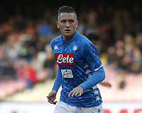 Piotr Zielinski of Napoli  during the  italian serie a soccer match,  SSC Napoli - Frosinone       at  the San  Paolo   stadium in Naples  Italy , December 08, 2018