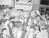 Montreal newsstand as second world  war was declared, September 1939